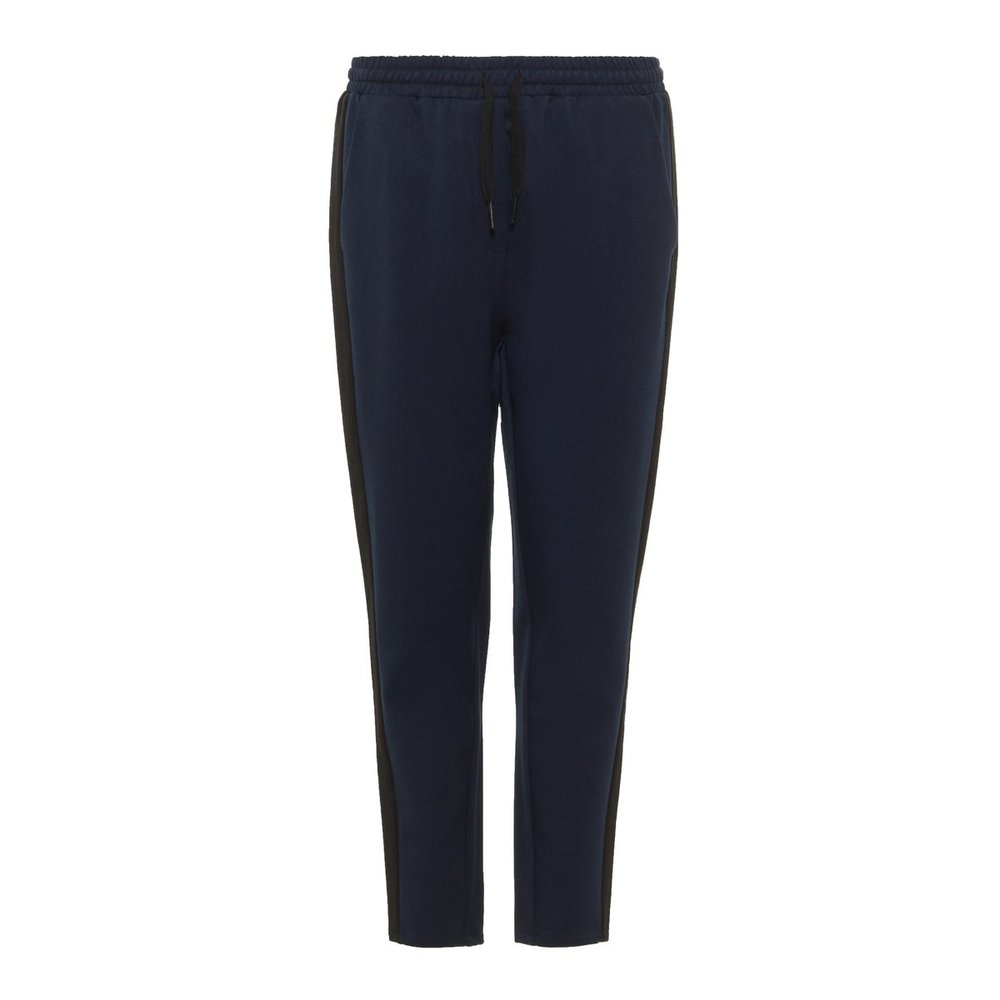 Trousers cropped drawstring