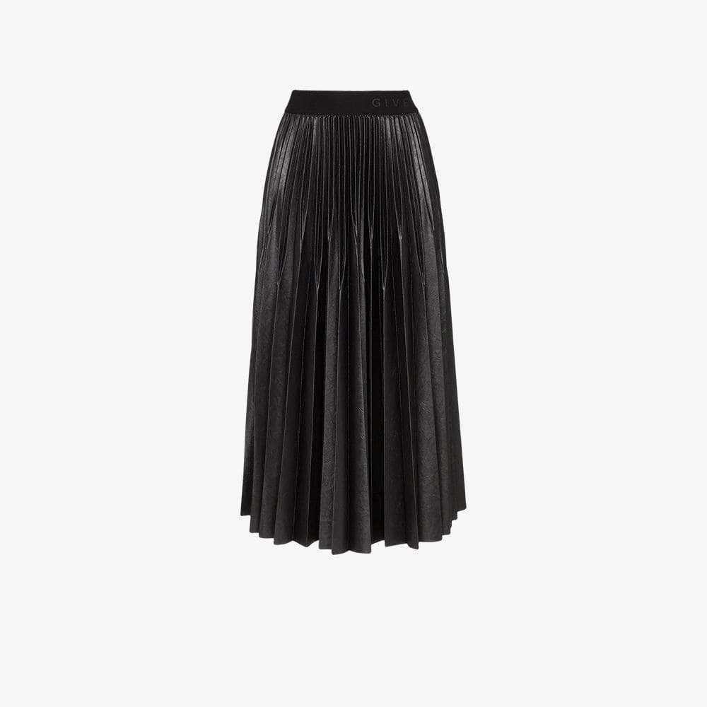 Givenchy Black Pleated skirt in painted jersey Givenchy