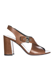 Leather heel sandals resina