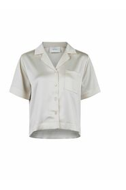 Sille Crepe Satin Shirt