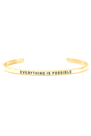 Armring med tekst - EVERYTHING IS POSSIBLE - 7413