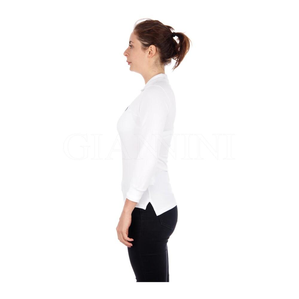 White POLO M 3/4 SLIM FIT | Polo Ralph Lauren | T-Skjorter | Topper Til Dame