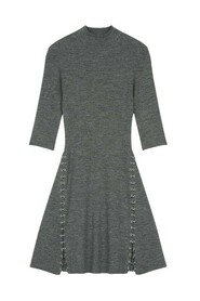 Rolea slim fit knit dress with rings
