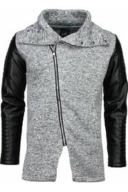 Casual Vest - Long Leather Sleeves