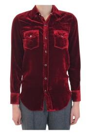 Brukte vest-skjorte med glitrende knapp