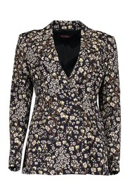 Strenna floral double-breasted blazer