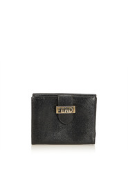 Embossed Leather Short Wallet