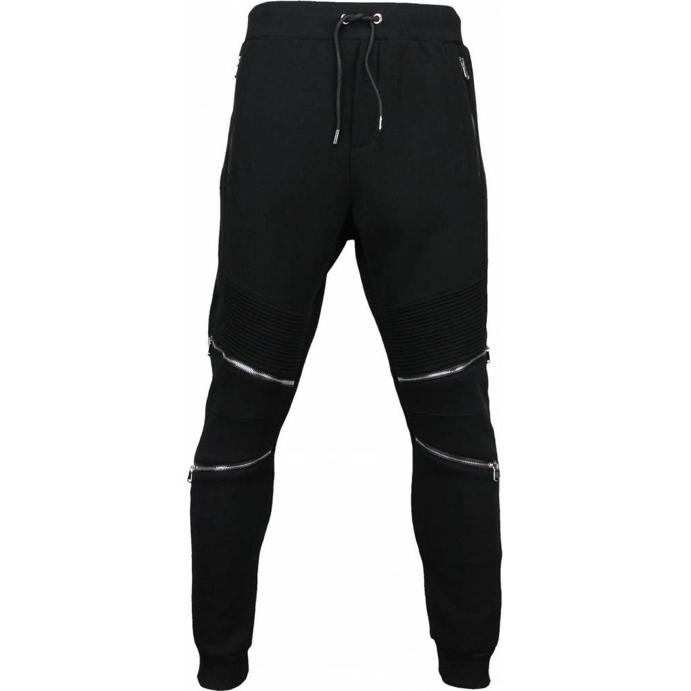 Sweatpants - Slim Fit Ribbel Style lynlås
