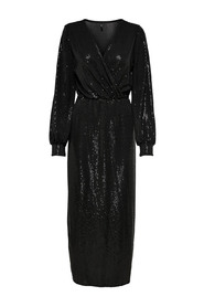 ONLMOON L / S GLITTER DRESS JRS