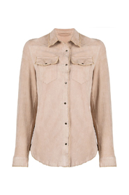 SUEDE LONG SLEEVES SHIRT