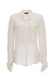 Georgette blouse with bow and charm