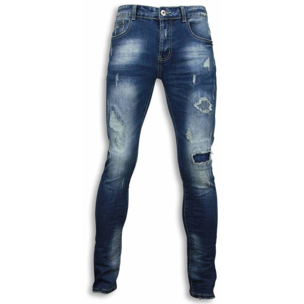 Beskadiget Allover Regular Fit Jeans