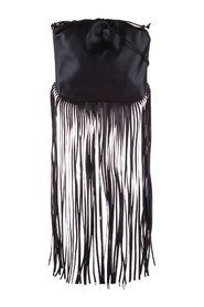 The Fringe Pouch Leather Shoulder Bag