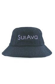 Britney Denim Buckethat - Black - Sui Ava