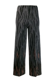 Flame print trousers