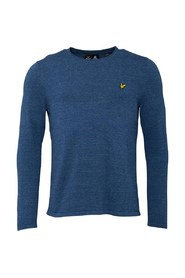 Marine Lyle & Scott Rolled Ham Jumper Genser