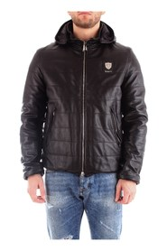 PACIOTTI 4US PUA1415 Leather jacket Men BLACK