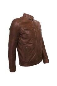 Leather Jacket Racer model Men