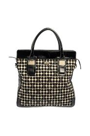 Printed Canvas and Patent Leather Blair Noel Tote