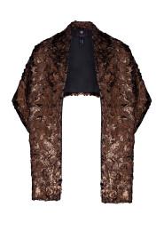 Foil fur stole