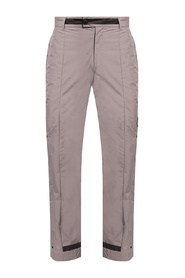 Trousers with logo appliqué