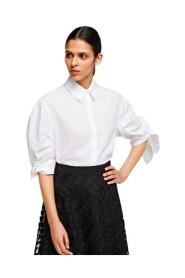 Linen Shirt With Bow Cuffs