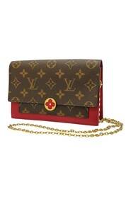 Pre-owned Monogram Flore Wallet On Chain Canvas