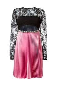 Floral Lace Pleated Dress