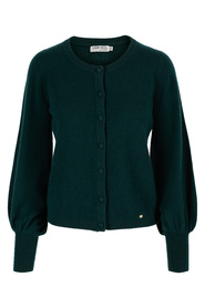 AVA CASHMERE CARDIGAN MED PUFFERMER