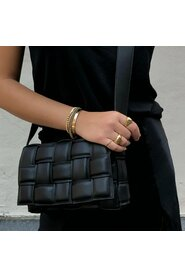 LEATHER WEAVE BAG