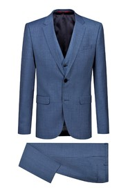 Suit with extra slim fit vest Astian / Hets184V1 - 50405359