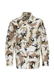 Oversize Shirt with Camouflage Print