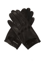 Cut-out leather gloves
