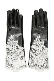 Vinyl and lace gloves