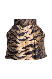 Shorts with animal motif