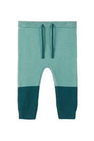 Trousers knitted colour block
