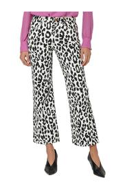 Flared Animalier Trousers