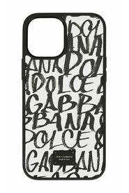 Dauphine calfskin iPhone 12 Pro Max cover with logo print