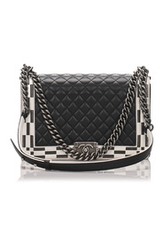 Medium Boy Quilted Leather Flap Bag