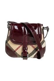Pre-owned Nova Check Coated Canvas and Patent Leather Flap Crossbody Bag