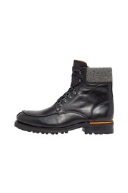 Leather boots Lace-up