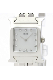 Pre-owned Hermes Heure H Quartz Stainless Steel Women's Dress Watch HH1.210