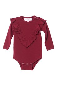 KNAST by KRUTTER - Body w. Ruffle LS - Bordeaux