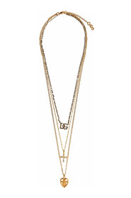 Triple Layered Necklace In Gold