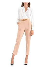 Combination jumpsuit with trousers and crossover blouse