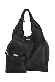 Shopping bag in soft leather