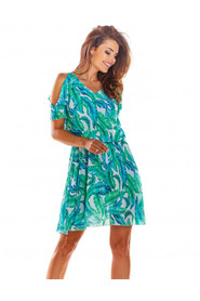 Sukienka rozkloszowana z szyfonu A295