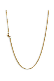 Half Moon Necklace, gold-plated sterling silver