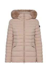 Slim Fit Down Jacket With Fur