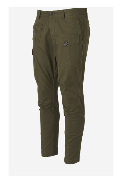 Army Green Cargo Trousers Dsquared2 Byxor
